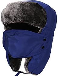 cheap -Tough Headwear Trapper Hat with Faux Fur Ear Flaps,Face Mask Winter Hat, Blue