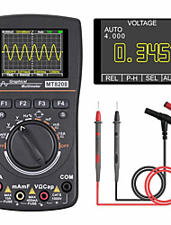 cheap -DR CODE MT8208 Intelligent Graphical Digital Oscilloscope Multimeter 2 in 1 With 2.4 Inches Color Screen 1MHz Bandwidth 2.5Msps Sampling Rate for DIY and Electronic Test Upgraded from MT8206