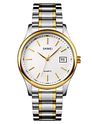 cheap -SKMEI Men's Steel Band Watches Analog Quartz Minimalist Shock Resistant Day Date / One Year / Stainless Steel