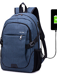 cheap -men women canvas laptop backpack casual daypack travel rucksack  with usb charging port