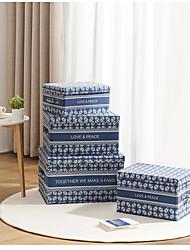cheap -Women's Waterproof Nylon Storage Bag Embossed Floral Print Daily Office & Career Black Navy Blue Orange Pale Blue