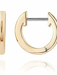 cheap -Women's 14K Yellow Gold Plated Cuff Earrings Huggie Stud | Small Hoop Earrings