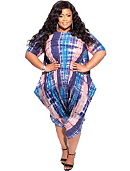 cheap -Women's Plus Size Print Striped Ordinary