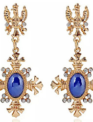 cheap -Women's Hoop Earrings Classic Cross Stylish Earrings Jewelry Gold For Party Evening Gift Date Festival 1 Pair