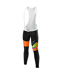 cheap -Malciklo Women's Cycling Bib Tights Bike Tights Sports Orange+White Clothing Apparel Bike Wear