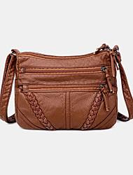 cheap -women multi-pocket middle-aged vintage crossbody bag shoulder bag