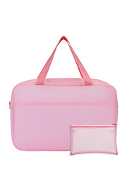 cheap -Unisex Bags PVC Top Handle Bag 2 Pieces Purse Set Zipper Solid Color 2021 Holiday Outdoor White Blue Blushing Pink