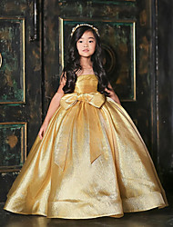 cheap -Princess / Ball Gown Floor Length Wedding / Party Flower Girl Dresses - Satin Sleeveless Jewel Neck with Bow(s)