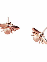 cheap -Bumble Bee Stud Earrings | Quality Silver, Gold or Rose Gold Filled | Insect Jewellery For Women | Honey Queen Bee Studs (Rose Gold)