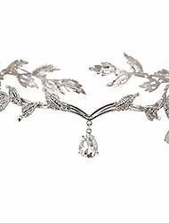 cheap -Rhinestone Headpiece, Rhinestone Leaf Wedding Tiara Headband, Bridal Hair Accessories Headgear, for Pageants Wedding Prom Birthday (Silver)