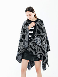 cheap -Sleeveless Coats / Jackets / Shawls Imitation Cashmere Special Occasion / Party / Evening Shawl & Wrap / Women's Wrap With Pattern / Print