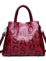 cheap -Women's Bags Top Handle Bag Zipper Date Office & Career 2021 Handbags Black Red Khaki Brown