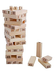 cheap -48 pcs Board Game Stacking Game Wooden Blocks Stacking Tumbling Tower Wooden Mini Professional Kid's Adults' Boys' Girls' Toys Gifts / 14 years+