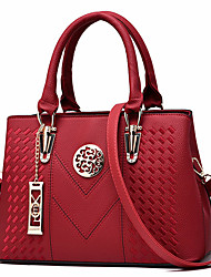 cheap -womens purses and handbag vintage shoulder bag lichi pattern large tote bag top handle satchel with long metal string decoration