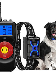 cheap -Anti Barking Dog Collars with 800M Remote Control, Dog Barking Deterrent Devices with Spray/Vibration/Sound Modes for Dog Training, Bark Collar for Small Medium Large Dogs.