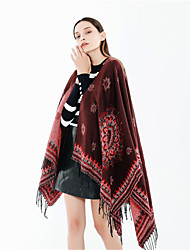 cheap -Sleeveless Coats / Jackets / Shawls Imitation Cashmere Special Occasion / Party / Evening Shawl & Wrap / Women's Wrap With Tassel / Patterned