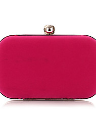 cheap -Women's Bags Polyester Alloy Evening Bag Solid Color Plain Party Wedding Wedding Bags Handbags Black Blue Red Fuchsia