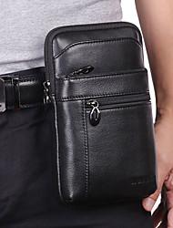 cheap -men genuine leather waist bag belt bag 7 inch phone bag business bag shoulder bag