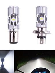 cheap -1pcs Motor led H4 BA20D 2MD Motorcycle Headlight Hi/Low Scooter Bulb CSP Bulb 12V-96V Lamp Motor Fog Headlamp Motorcycle Accessories
