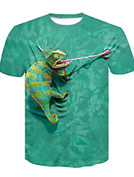 cheap -men's peace tree frog t-shirt, green design, small