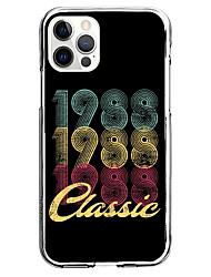 cheap -Letter & Number Fashion Phone Case For Apple iPhone 13 12 Pro Max 11 X XR XS Max iphone 7/8 iphone 7Plus / 8Plus Unique Design Protective Case Shockproof Back Cover TPU