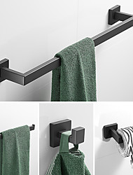 cheap -Bathroom Accessory Set / Towel Bar / Toilet Paper Holder New Design / Creative / Multifunction Contemporary / Modern Stainless Steel 1pc - Bathroom Double / 1-Towel Bar / towel ring Wall Mounted