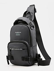 cheap -men fashion light weight multifunctional crossbody bag shoulder bag chest bag backpack with usb charging port