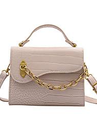 cheap -women pu leather alligator pattern multi-carry saddle bag crossbody bag handbag