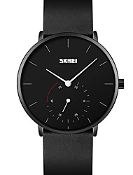 cheap -SKMEI Men's Steel Band Watches Analog Quartz Modern Style Large Dial / One Year / Stainless Steel