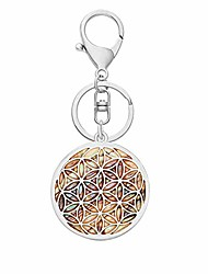 cheap -life of flower abalone shell long chain pendant charms necklace (ky silver)