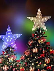 cheap -Christmas Tree Top Five-pointed Lights LED Xmas Star Fairy Night Light for Wedding Party Indoor Outdoor Garland Decor Colorful Lighting AC220V 230V 240V EU Plug
