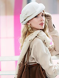 cheap -Headwear Casual / Daily 100% Wool Hats with Imitation Pearl / Solid 1pc Casual / Daily Wear Headpiece