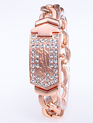 cheap -foreign trade hot-selling fashion diamond-studded square alloy chain steel belt ladies watch creative clamshell fashion watch