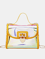 cheap -women laser chain pvc crossbody bag shoulder bag handbag
