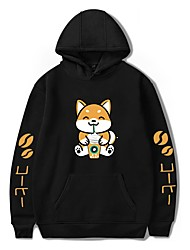 cheap -Men's Pullover Hoodie Sweatshirt Dog Graphic Animal Print Daily Holiday 3D Print Casual Cute Hoodies Sweatshirts  White Black Red