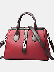cheap -women pu leather fashion casual medium capacity solid color multi-carry handbag crossbody bag shoulder bag