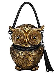 cheap -Women's Bags PU Leather Crossbody Bag Tassel Zipper Animal Daily Going out 2021 Handbags MessengerBag Black Gold Silver
