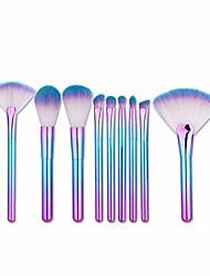 cheap -Makeup Brushes Gradient Makeup Brush Set Tools Make-up Toiletry Kit Nylon Cosmetic Brush Eye Brush 9pcs (Color : Blue)