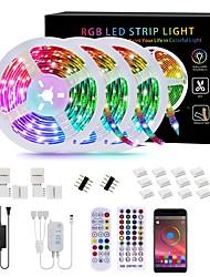 cheap -LED Smart Strip Light Sets 30M(3x10M) Tiktok RGB Bluetooth APP Control Strip Lights 540 LEDs SMD5050 Mounting Bracket RGB Christmas New Year's Party Bedroom TV Decoration Strip Lights 12V