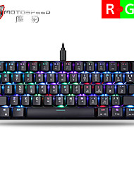 cheap -MOTOSPEED ck61 Wireless Bluetooth 5Ghz USB Dual Mode / USB Wired Mechanical Keyboard Luminous 61 pcs Keys