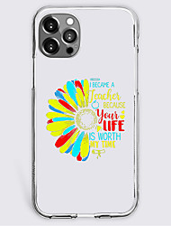 cheap -Quotes & Sayings Fashion Phone Case For Apple iPhone 13 12 Pro Max 11 X XR XS Max iphone 7/8 iphone 7Plus / 8Plus Unique Design Protective Case Shockproof Back Cover TPU