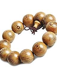 cheap -Mens Womens Wood Bracelet, Tibetan Beads Buddhist Prayer Mala Necklace