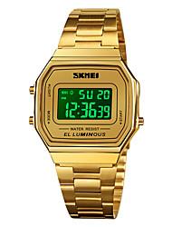 cheap -SKMEI Men's Sport Watch Digital Digital Sporty Classic Calendar / date / day Chronograph Alarm Clock / One Year / Stainless Steel