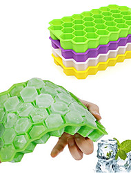 cheap -Ice Cube Tray Silicone Ice Cube Mold 160 Mini Frozen Cubes Trays 37 Hexagon Ice Tools Drinkware Random Color
