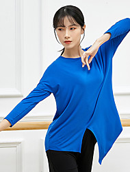 cheap -Activewear Top Split Ruching Solid Women's Training Performance Long Sleeve High Modal