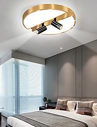 cheap -3-Light 40 cm Single Design Flush Mount Lights Metal LED Nordic Style 110-120V 220-240V