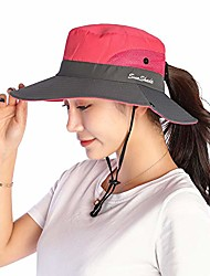 cheap -Adults Wide Brim Sun Hat Bucket Hat Summer Camping & Hiking Fishing Packable Breathable UV Protection