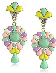 cheap -Women's Stud Earrings Drop Earrings Hoop Earrings Fancy Holiday Fashion Birthday Luxury Fashion Trendy Rock Korean Resin Earrings Jewelry Yellow / Blushing Pink / Green For Sport Engagement Date