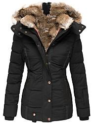 cheap -Women's Down Solid Color Dailywear ArmyGreen Black Red Navy Blue S M L XL