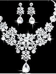 cheap -Women's Cubic Zirconia Jewelry Set Classic Flower Fashion Earrings Jewelry White For Anniversary Party Evening Gift Festival 1 set